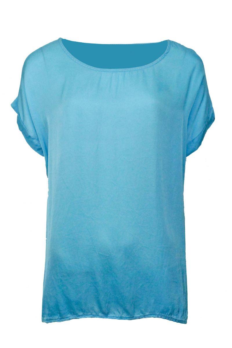 T-shirt Bella Aqua Blauw
