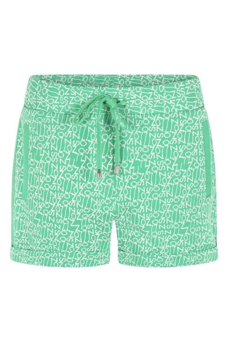 Zoso Printed Sweat Short 214 Sky Green