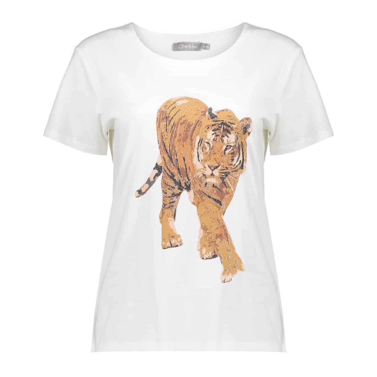 Geisha T-Shirt Tiger Off-White