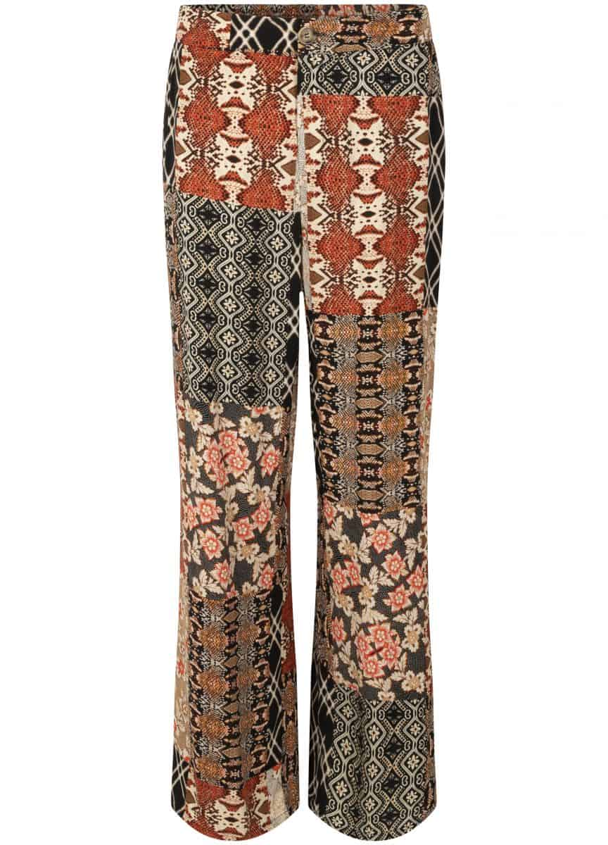 Tramontana Trousers Wide Leg Quilty Print