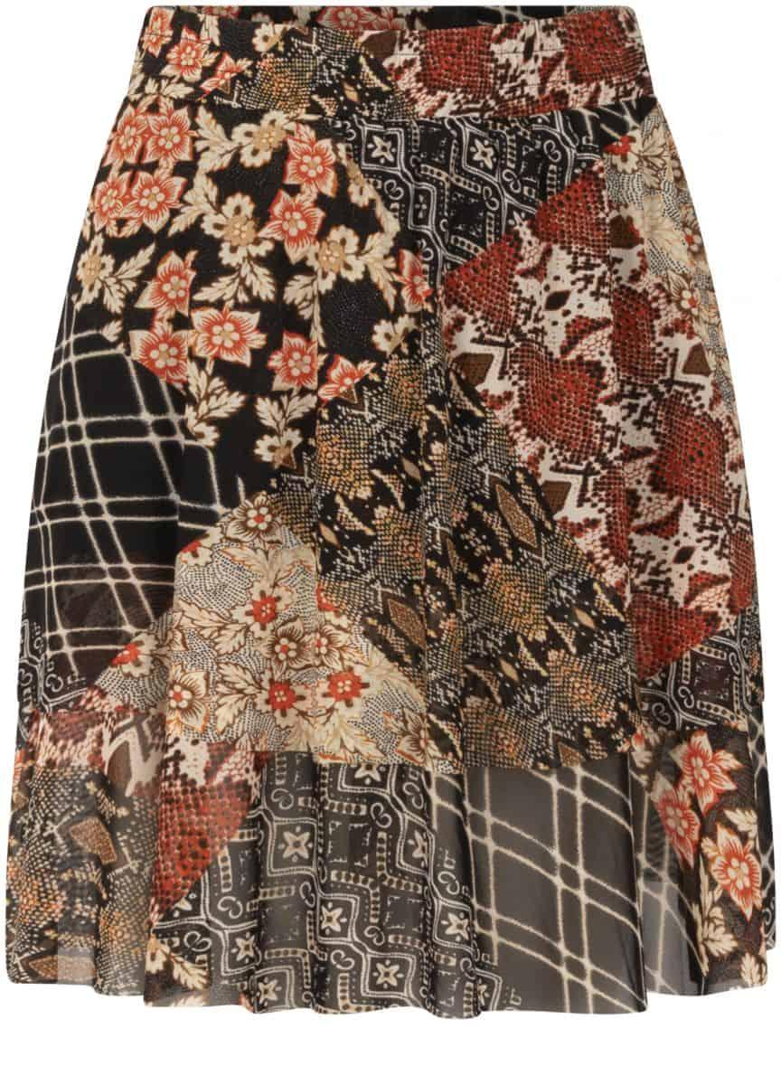 Tramontana Skirt Mini Mesh Quilty Print