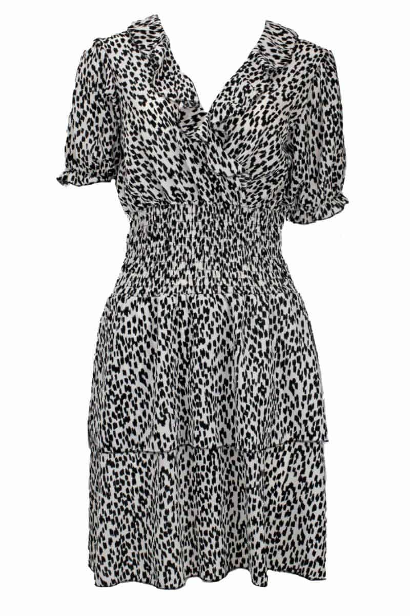 Dress with Ruffles Cheetah Print