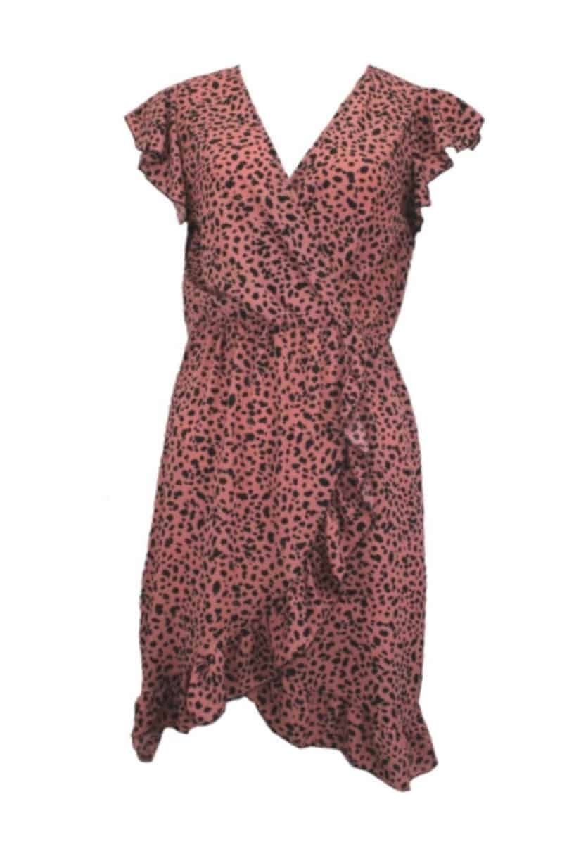 Overslagjurk Cheetah Print Roze