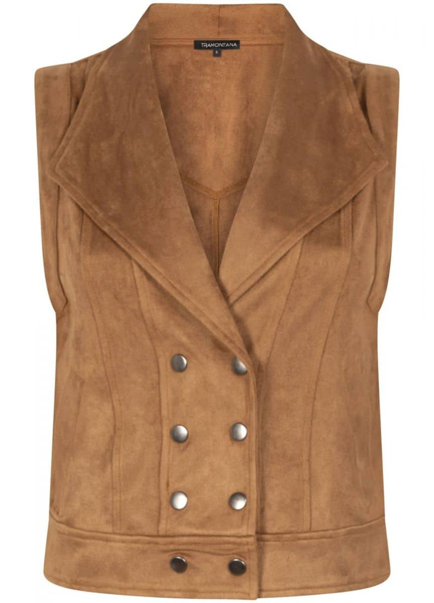 Tramontana Waistcoat Suedine Buttons