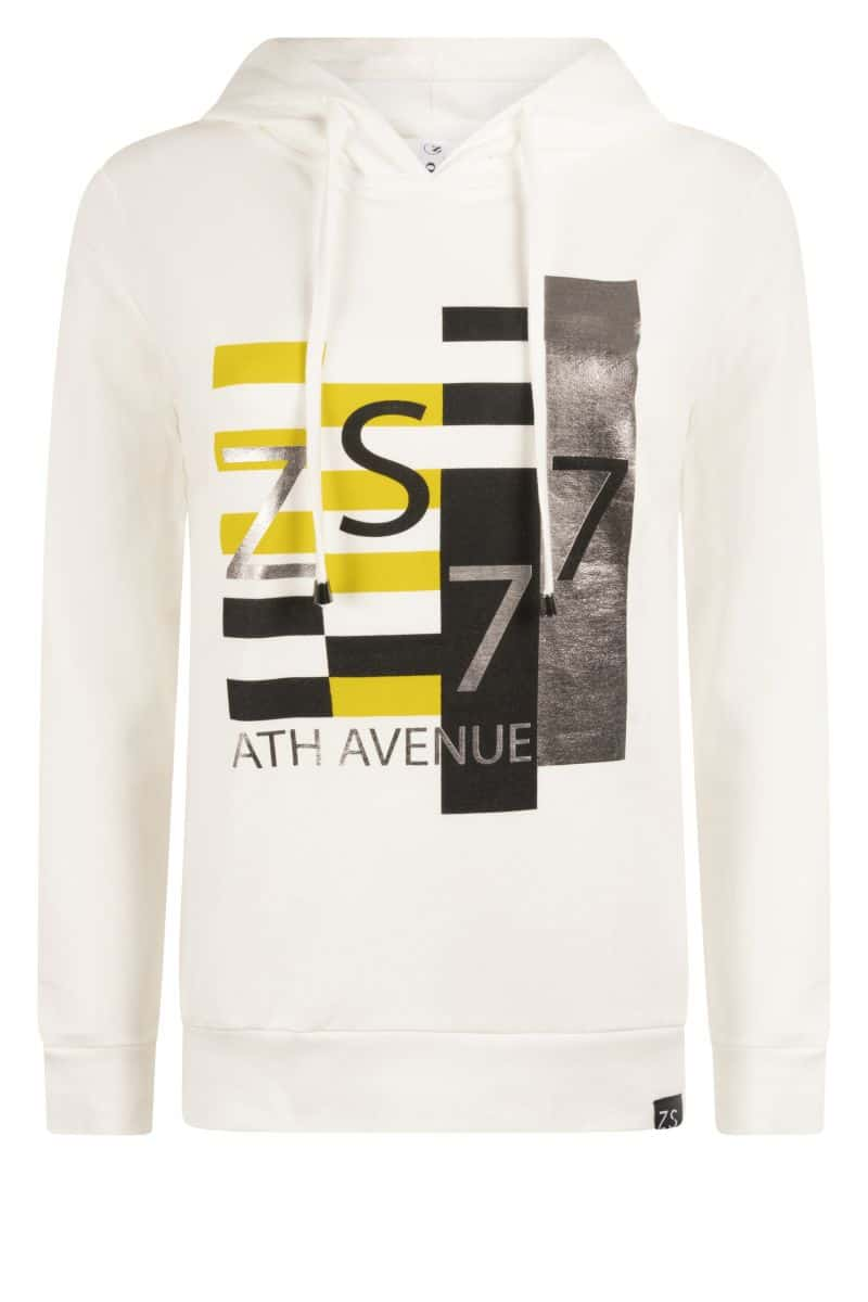 Zoso 215 Kim Hooded Sweater With Print Spice Yellow