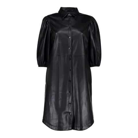 Geisha Dress PU Black