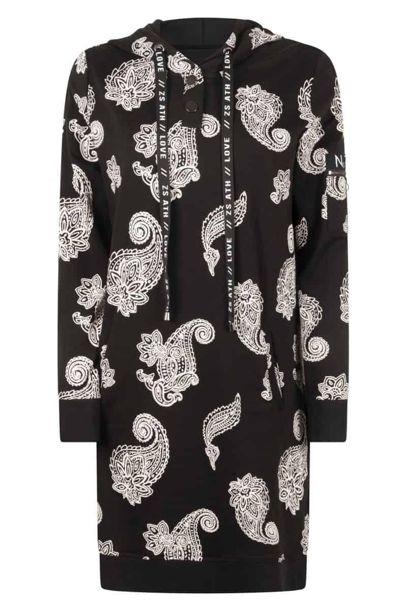 Zoso 215 Luzy Hooded Sweat Dress With Print