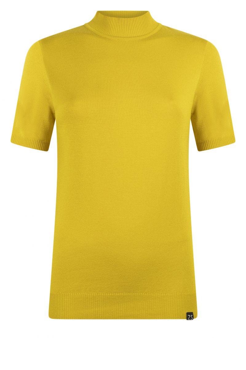 Zoso 215 Marnix Luxury Knitted Turtle Sweater Spice Yellow