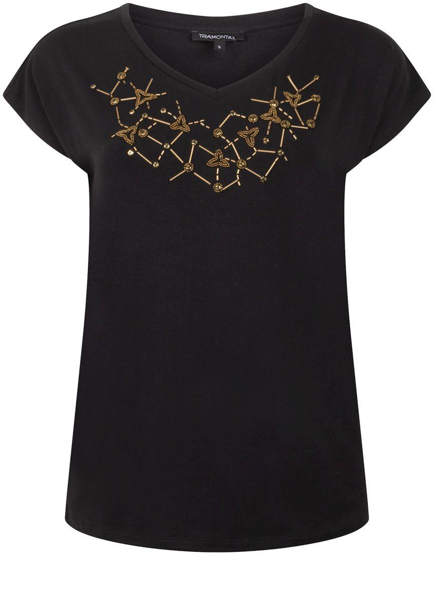 Tramontana T-Shirt Embellishment Black